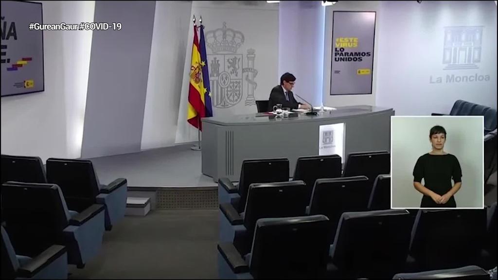Espainiako Gobernuak Estatu osoan konfinamenduetarako irizpide komunak ezarri ditu