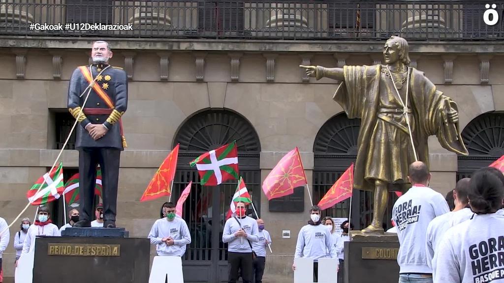 16 lagunek deklaratu dute urriaren 12an Iruñean eginiko protesta batengatik