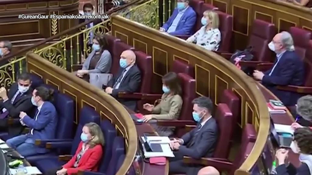 Gehiengo osoa gaindituta, aurrekontuak onartu ditu Espainiako Kongresuak
