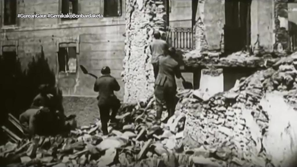 Faxistek Gernika bonbardatu zuten gaurko egunez duela 84 urte
