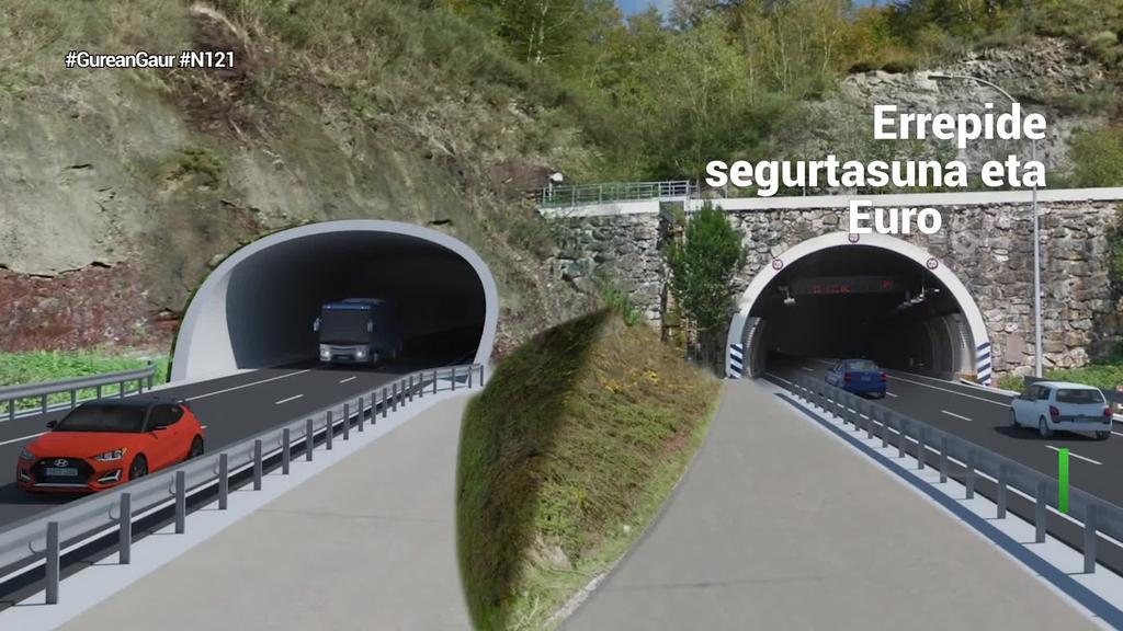 2022tik aurrera aurreikusten du gobernuak N121-Ako tunelak zahar berritzea
