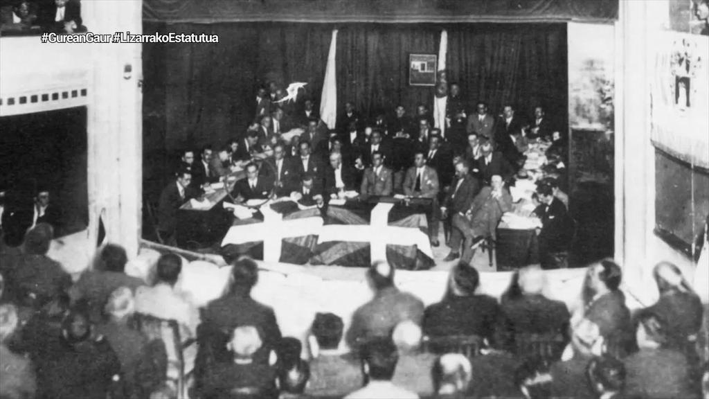 Gaur duela 90 urte Lizarrako Estatutua onartu zuten, aldeko 427 botorekin