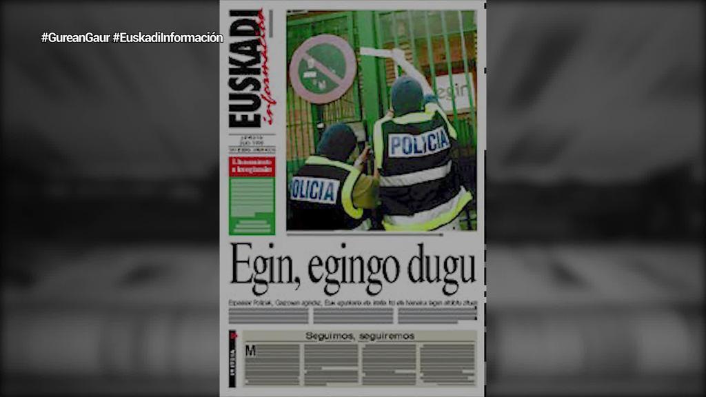 Duela 23 urte argitaratu zuten 'Euskadi Información' kazetaren lehen alea