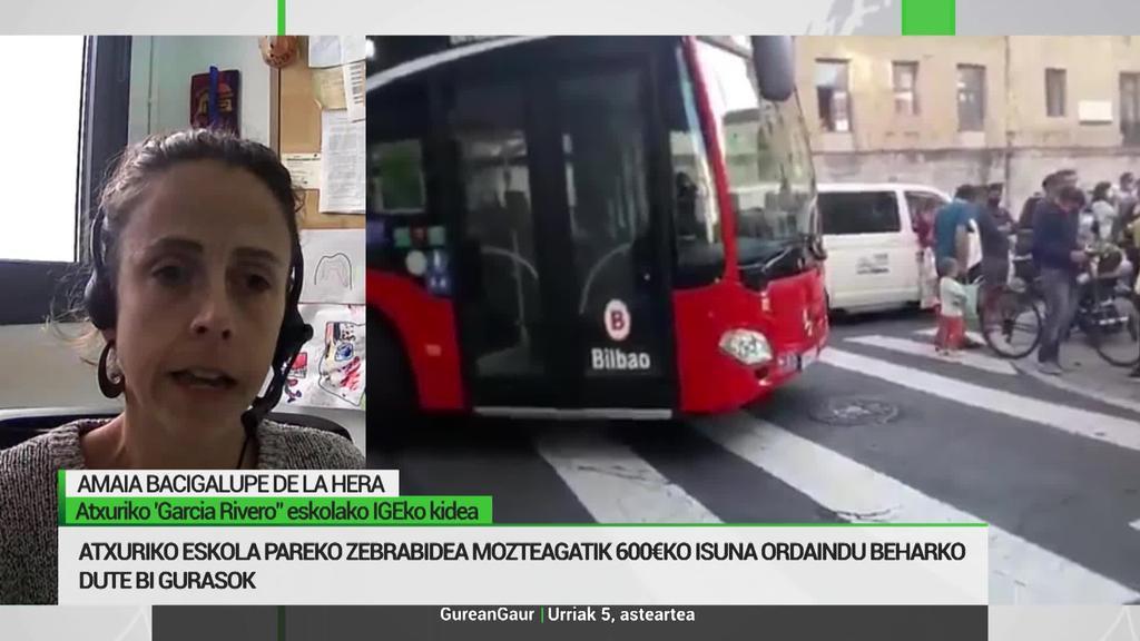 Amaia Bacigalupe: 'Umeekin eskolara segurtasunez heltzeko zebrabideak moztea eskatzen dugu'
