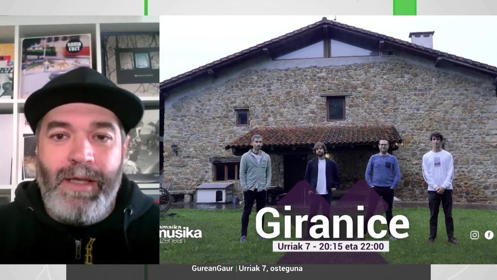 Koldo Otamendi: 'Giranice taldearen azken lana ezagutuko dugu Musika Zuzenean saioan'