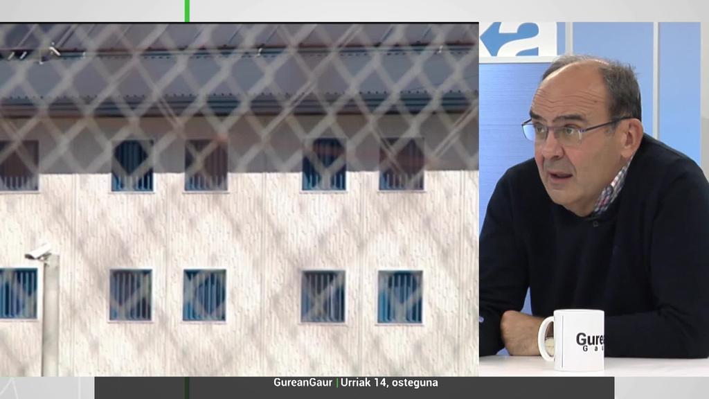Jaime Tapia: 'Gutxienez presoen % 40a erdi aske egotea da helburua'