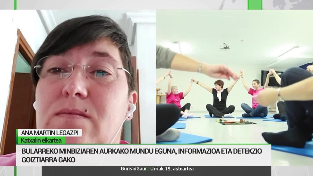 Ana Martin: 'Bularreko minbiziari aurre egin ahal zaiola erakutsi nahi dugu'