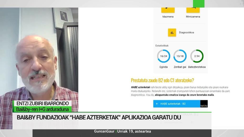 Entzi Zubiri: 'HABE euskarazko azterketak prestatzeko aplikazioa sortu dugu Bai&by-n'