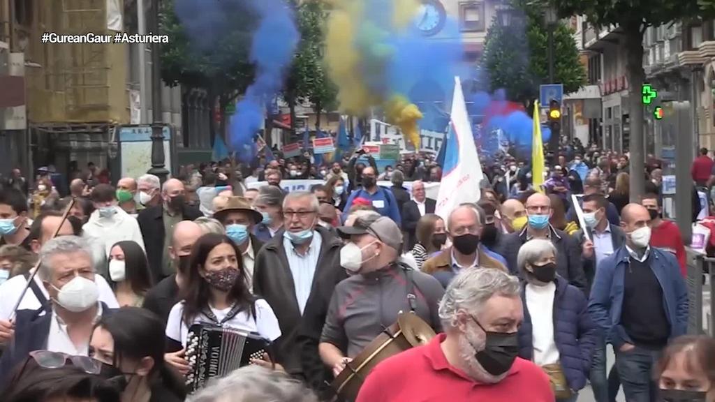 Andecha Astur: 'Asturierak beste hizkuntzek dituzten eskubideak izatea nahi dugu'