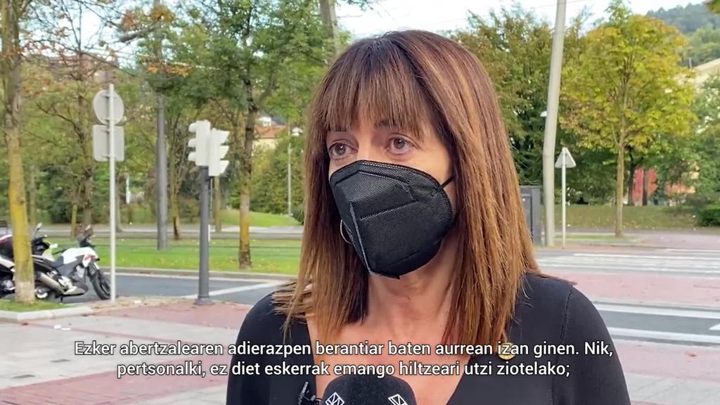 Idoia Mendia: 'Ezker abertzalearen adierazpena berantiarra izan da'