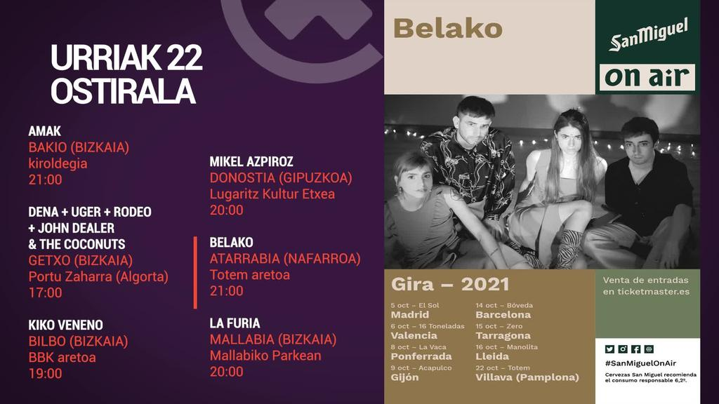 ASTEBURUKO MUSIKA AGENDA - Urriak 22 eta 23