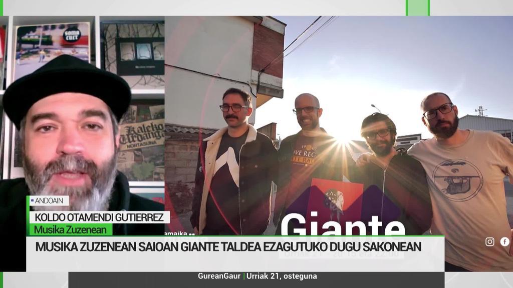 Koldo Otamendi: 'Giante taldea izango da Musika Zuzenean saioko erreportai nagusian'