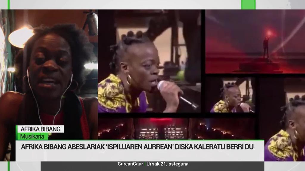 Afrika Bibang: 'Emakumearen ahalduntzea islatu nahi izan dut 'Ispiluaren aurrean' diskarekin'