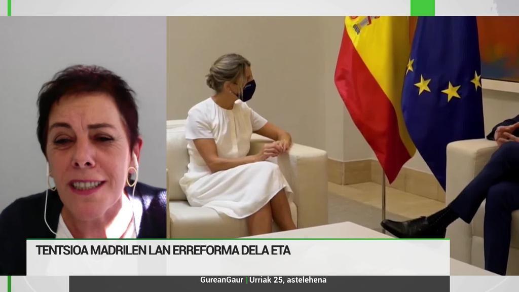 Mertxe Aizpurua: 'Etengabe ari gara presionatzen Madrilek akordioak bete ditzan'