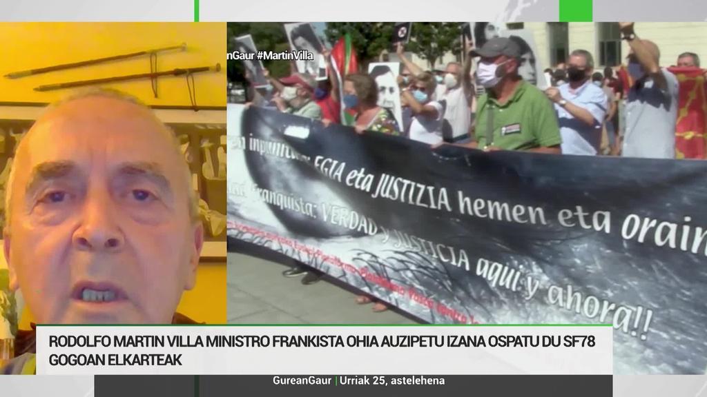 Sabino Cuadra: 'Ozeano bat zeharkatu eta 10.000 kilometro egin behar izan ditugu justizia bila'