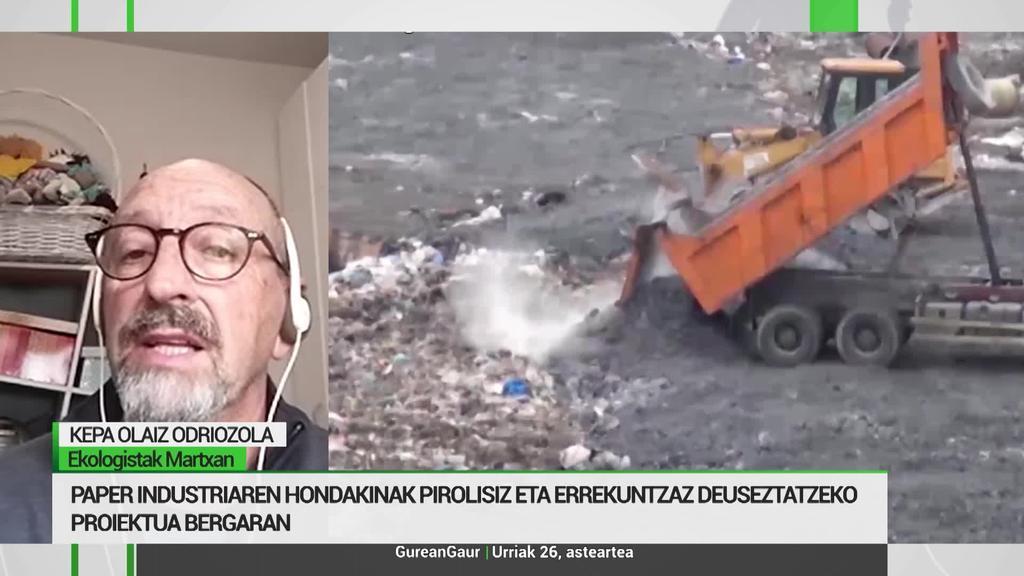 Kepa Olaiz: 'Ingurumen eta osasun kalteak ekarriko ditu Bergarako pirolisi plantak'